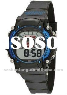 mixed color wholesale silicone sports young style wristwatch