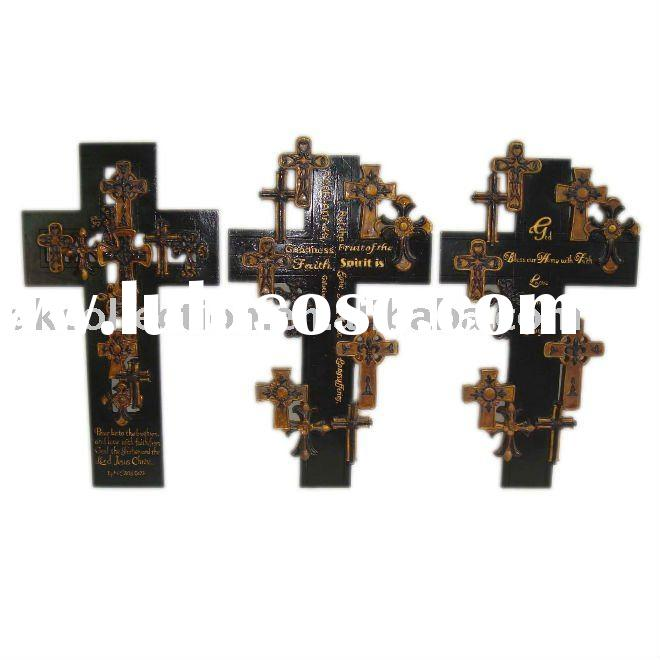 s/3 wall cross for home decor.