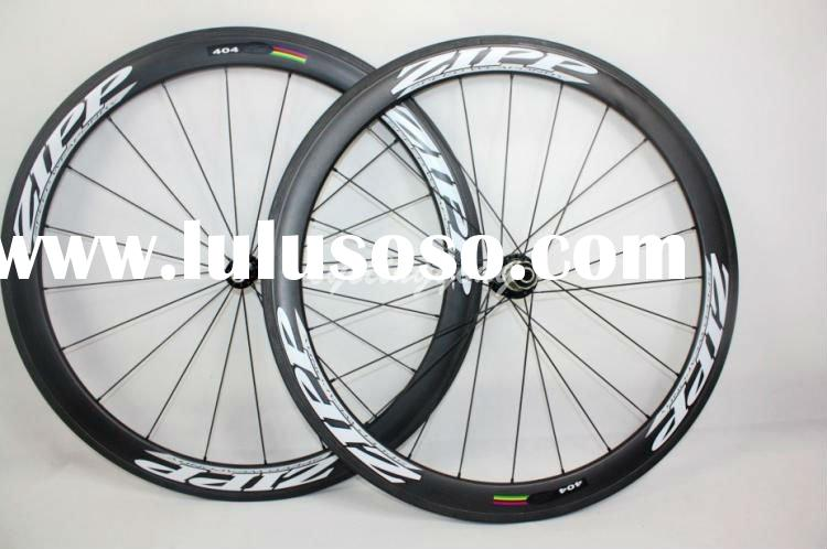 wholesale,free shipping Zipp 404 carbon Wheelset T-50 Tubular 3K weave wheels 50mm