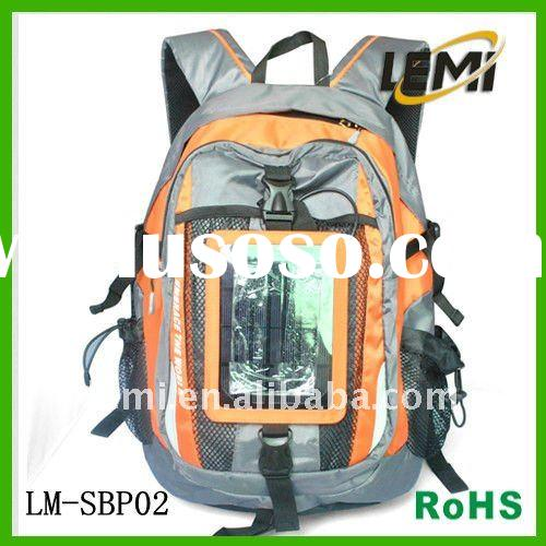 2011 New Travel Backpack with Solar Panel Charger (Iphone and mobile phone and digital products)