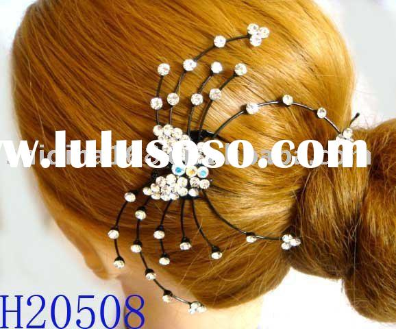 2011 Newest fashion rhinestone crystal hair comb H20508