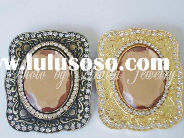 2011 fashion alloy belt buckle blanks with big stone ARATTA-85542