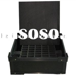 2012 new style hollow sheet made ESD corrugated plastic stackable packing box container for transpor