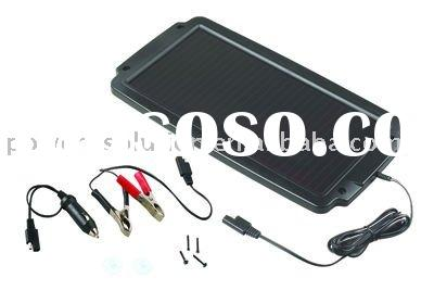 2.4w solar car battery charger with built-in blocking diode CE and ROHS certificates