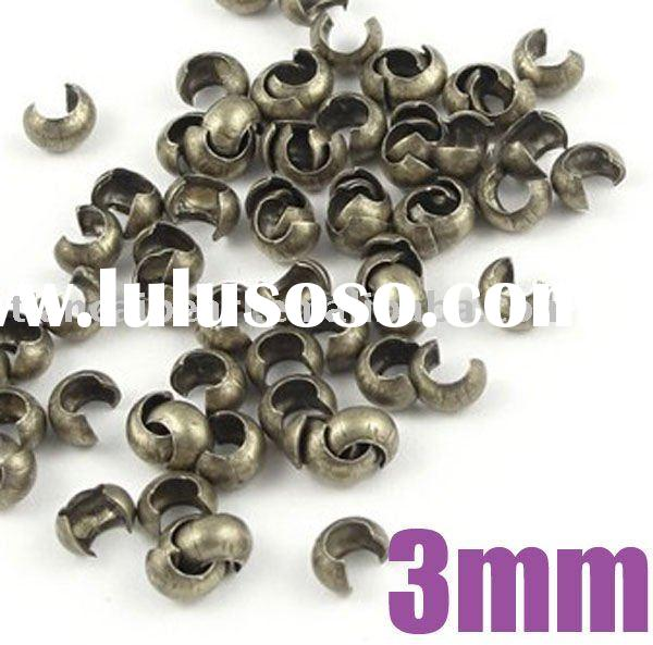 3mm Antique Brass Bronze Crimp Covers Crimp Beads Jewelry Findings Jewelry Accessories Jewelry Fitti
