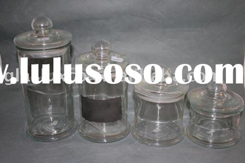 4Pcs Bell Shape Glass Storage Jar ,Glass Canister Set