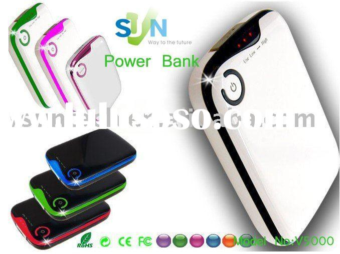 5000mAh mobile phone battery charger for iphone,3g,4g,blackberry,nokia,htc