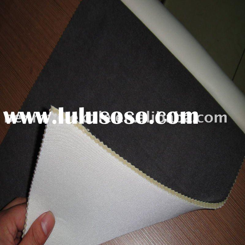 CAR SEAT FABRIC FOR POLY SUEDE BONDED WITH FOAM AND FELT