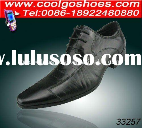 Charming pointed toe wrinkle leather men's dress shoe