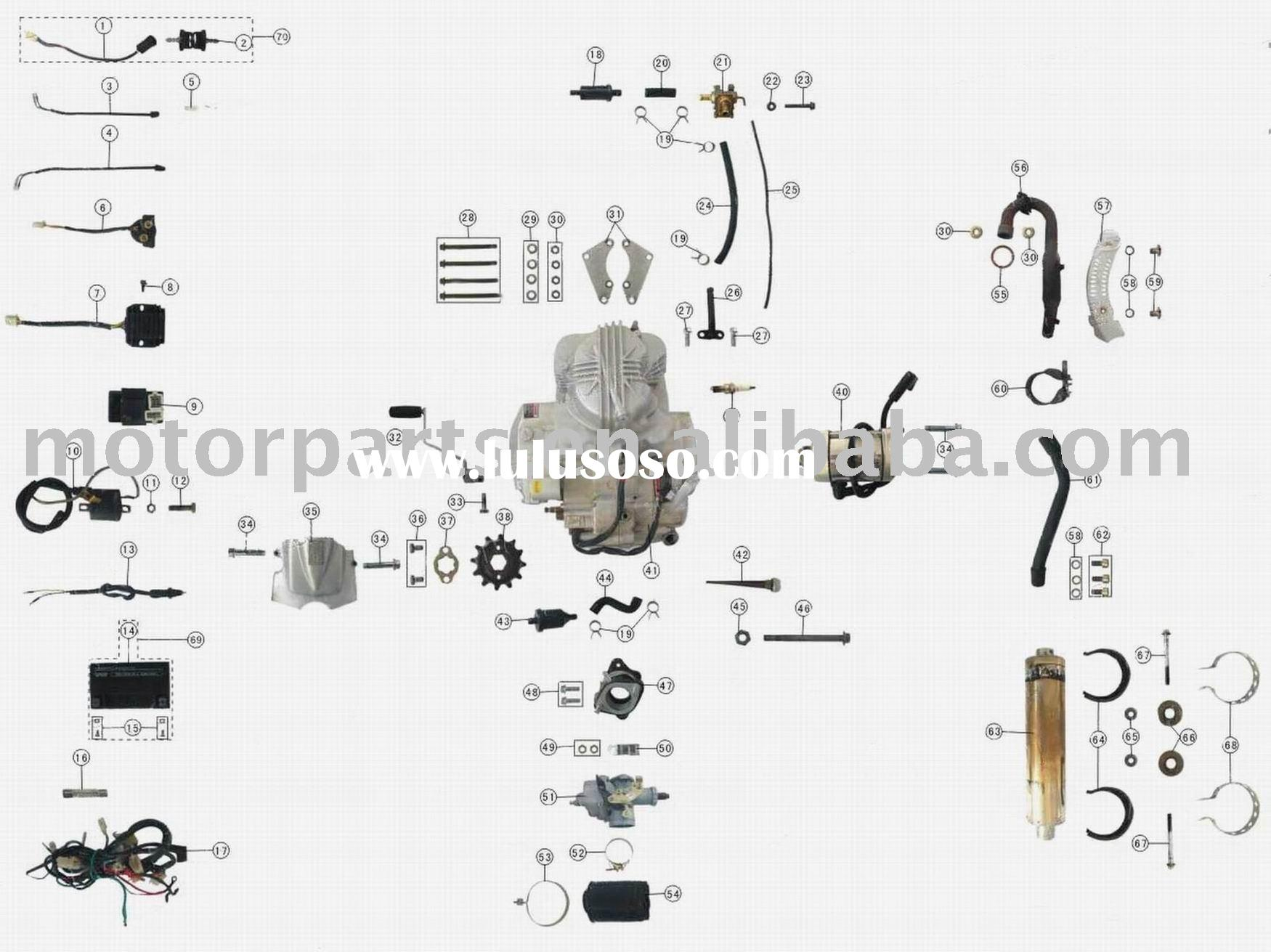 Engine Parts 110cc Atv Parts For Sale Price China