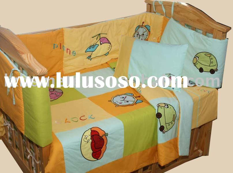Embroidery baby bedding set