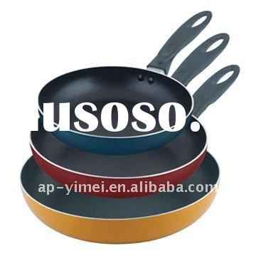 Enamel cast iron frying pan set 3pcs