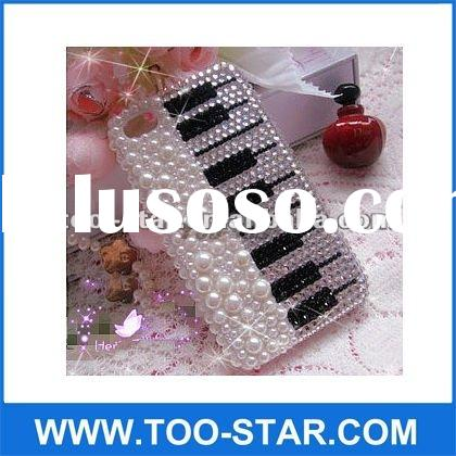 Fashion Luxury Bling piano keys Crystal Diamond Case for iphone 4/4S