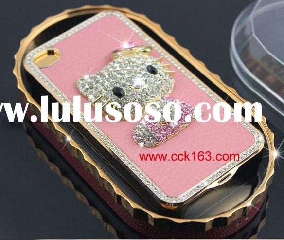 For Iphone 4G diamond leather case cover of hello kitty design