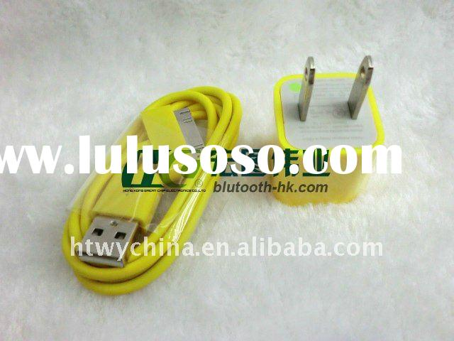 For iPod Touch nano US version USB Adapter Wall Charger+cable for iPhone 3G