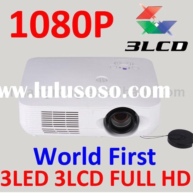 High Brightness 3LCD 3LED FULL HD 1080P 3D Home Theater Projector