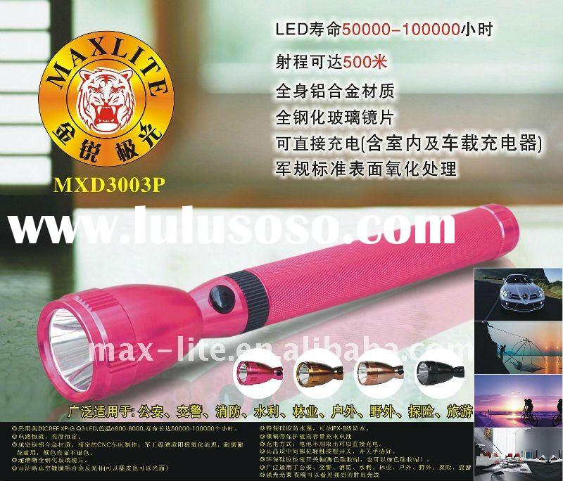 Long range beam high power rechargeable LED torch