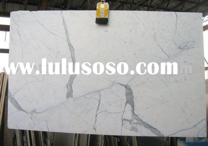 Marble Stone Slab, Statuary White Honed
