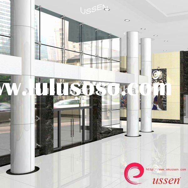 Nano Crystal White Glass Floor Tiles Building Material