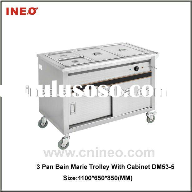 Restaurant Equipment (4 Pan Bain Marie Trolley with Cabinet)
