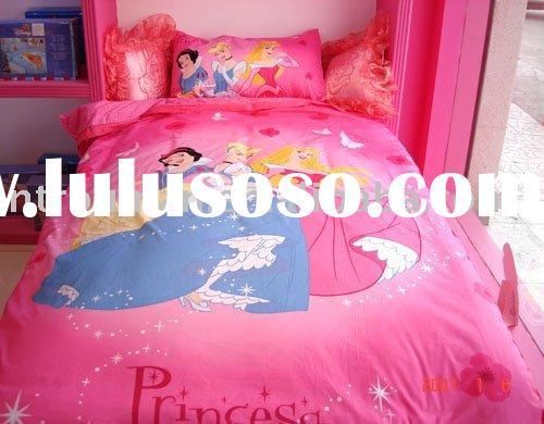cartoon bed sheets, children beding sets, cotton polyester printed bedding set, T/C printed bedding