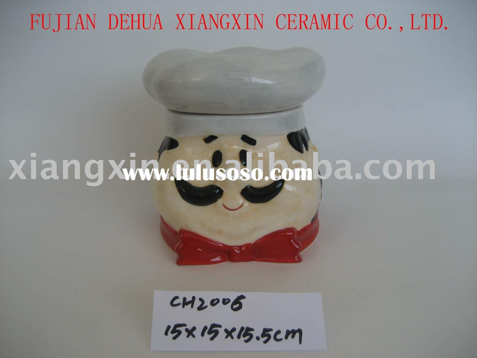 ceramic canister(ceramic cookie jar,candy cookie jar,canister set)