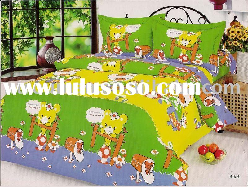 children/baby/twin cartoon bedding sheets, bed sheets, printed bed sheet