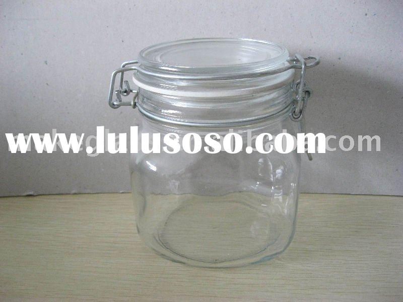 glass storage jar/glass container/glass canister/glass seal pot