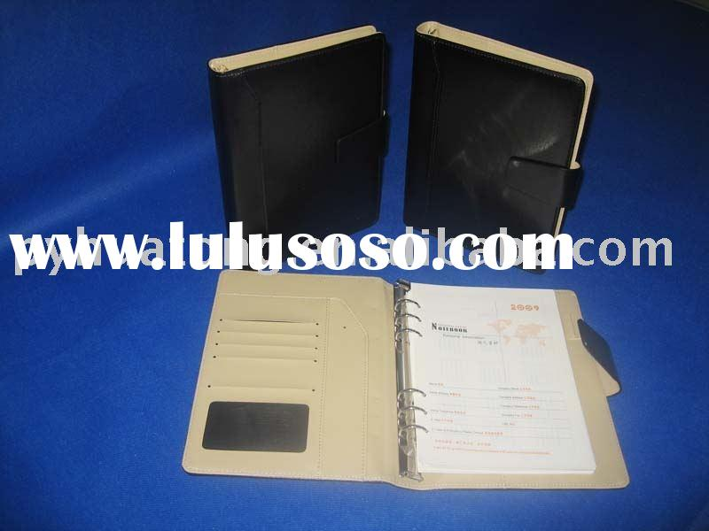 leather cover loose leaf notebook