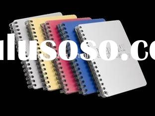 metal cover spiral notebook