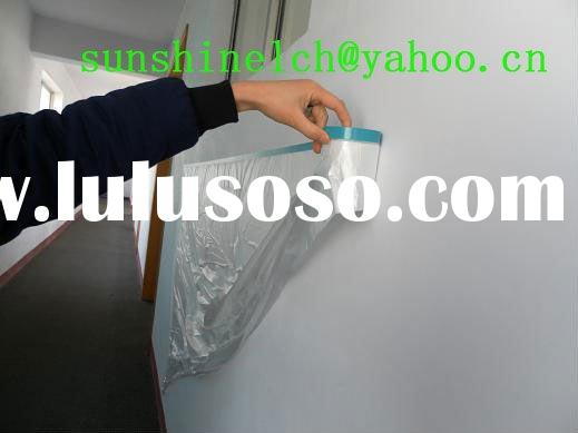 plastic HDPE pre-taped masking film with cloth UV resistent tapes
