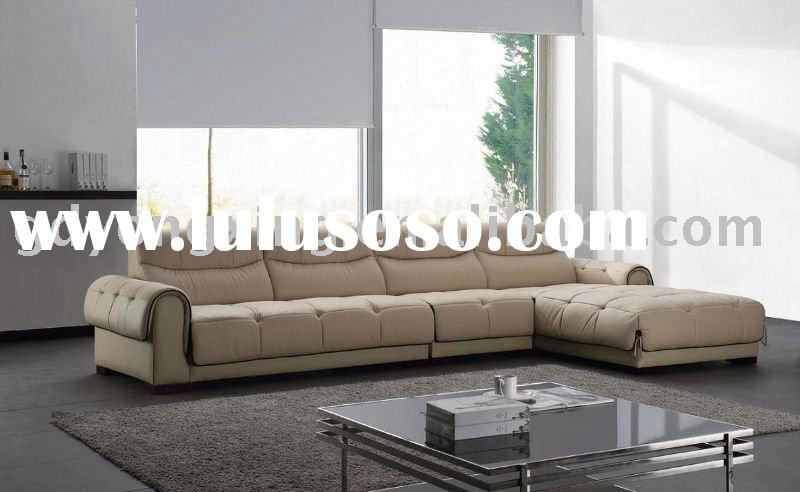 sectional living room leather sofa bed C12#