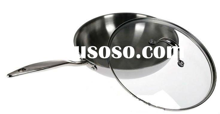 superior quality stainless steel frying pans