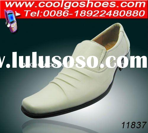 supply New fashion white wrinkle mens dress shoes for charming men