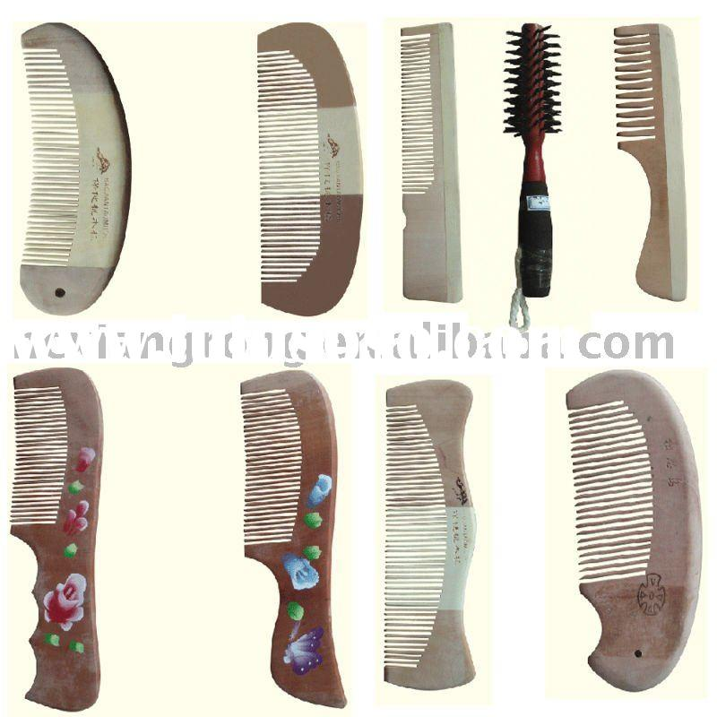wood comb hair care
