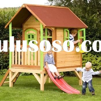 wooden children play house, wooden house, toy house, playhouse