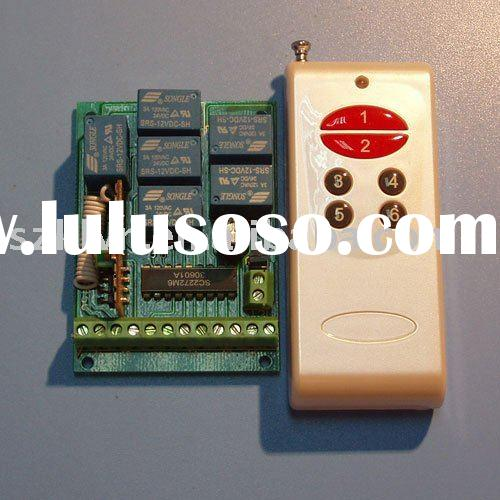 12V 6-channel wireless remote control switch