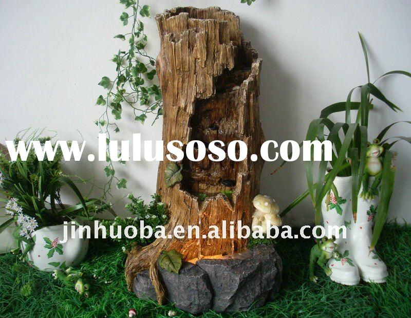 2012 choose tree stump garden water fountain