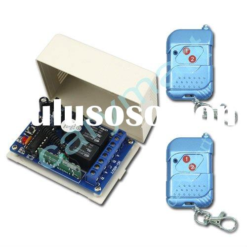 2 Channel Wireless Relay Switch Control/ Transmitter & Receiver Remote Control Switch/ DC 9V 12V