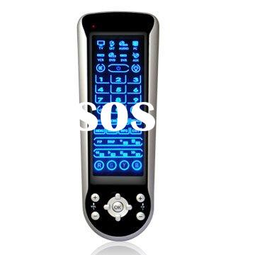8 in 1 Universal Touch Screen Remote Control with blue backlight and PC function