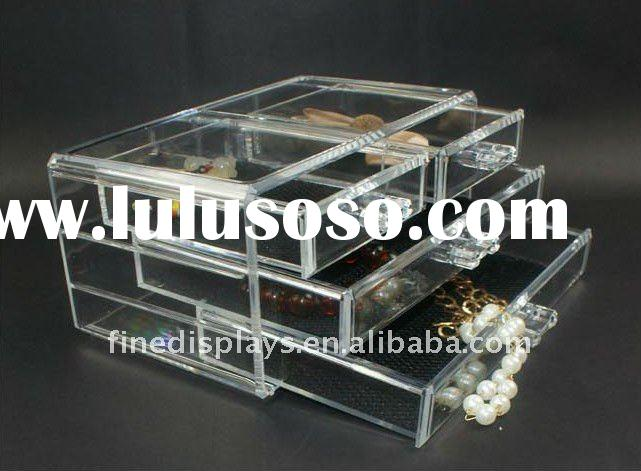 Acrylic Clear Cube Cosmetic Drawer (CD-A-0127)