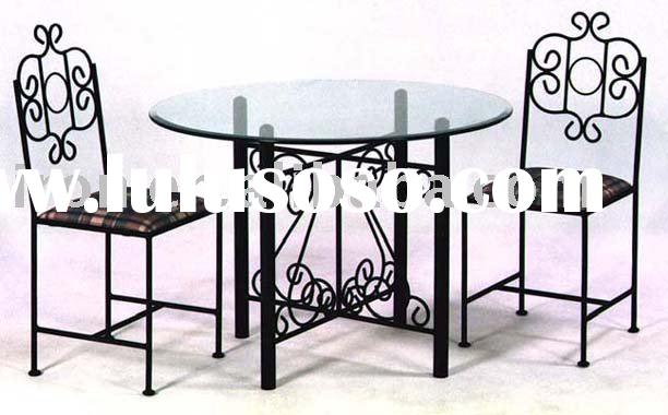 Antique dining table and chair