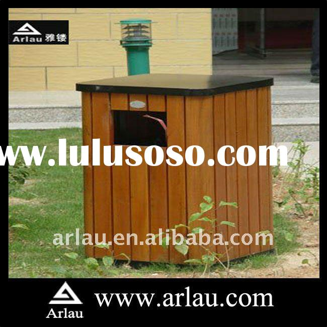 Arlau BW14 Outdoor Hot Sell Wood Trash Bin