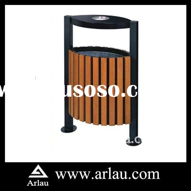 Arlau BW34 Outdoor Metal and Wood Recycling Bin