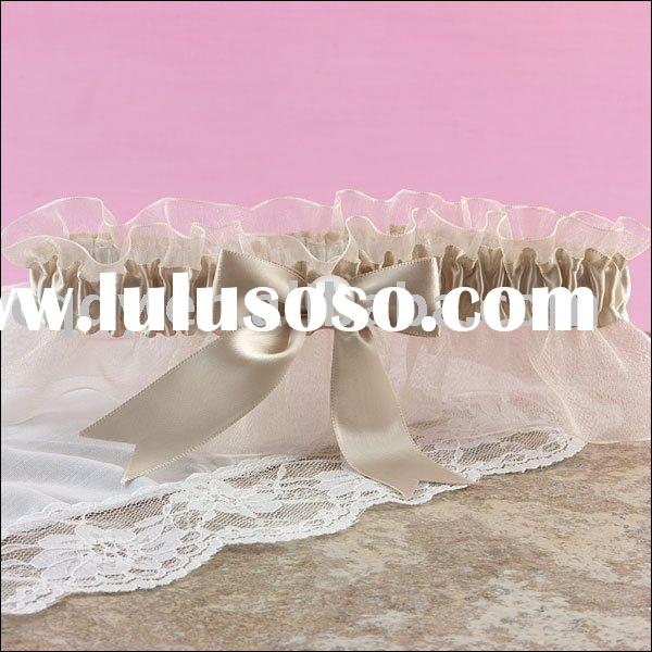 Best selling wedding garter/Organza Lace Garters/belt garters/cheap garters/best design garters/Brid