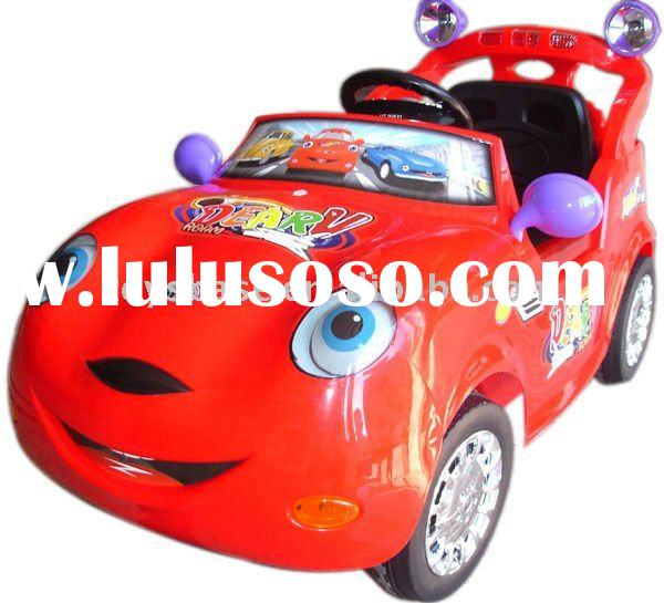 Cartoon 4ch remote control car,baby ride on car, with brake function