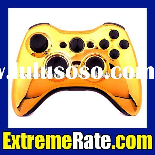 Chrome Gold Gaming Mod Kit Joysticks Components for Xbox 360 Controller Shell Replacement Parts