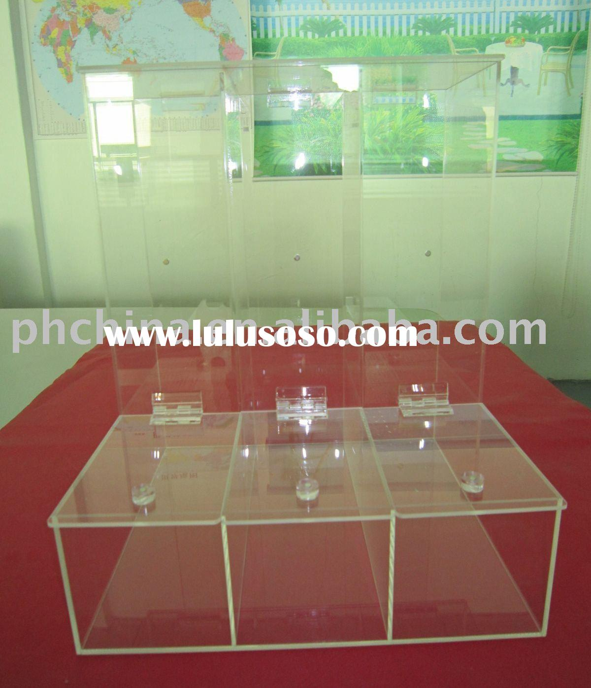 Clear Acrylic Candy Box with dividers
