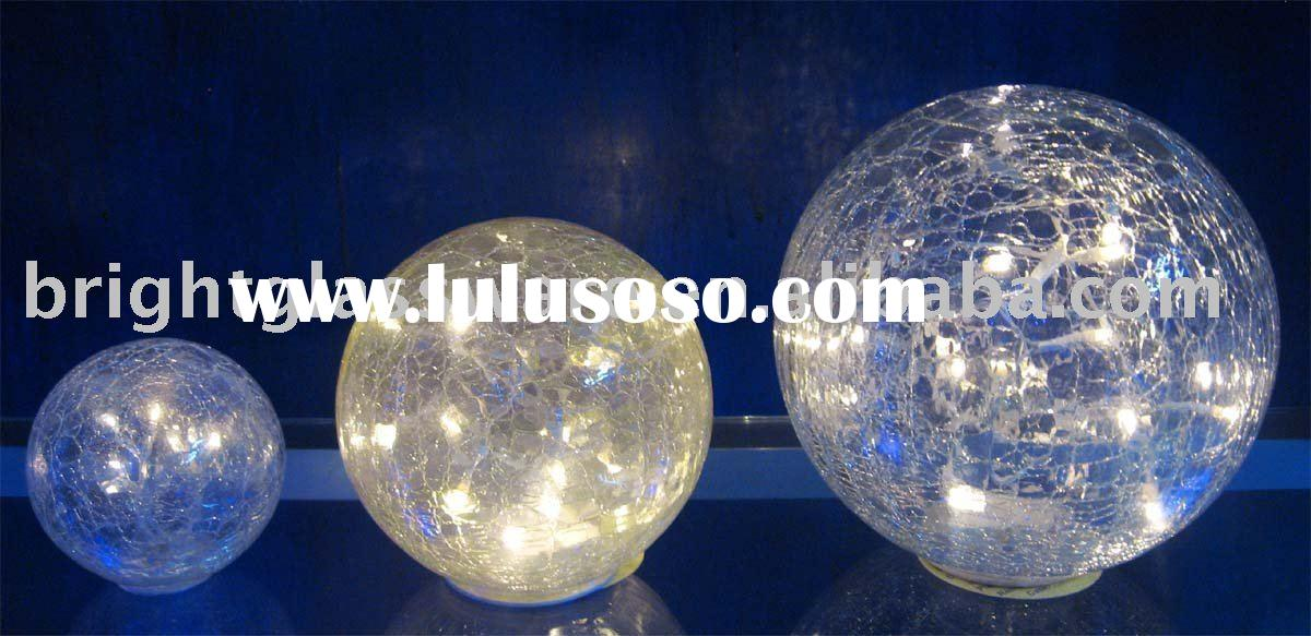 Crack glass globe lamp cover/shade with led light