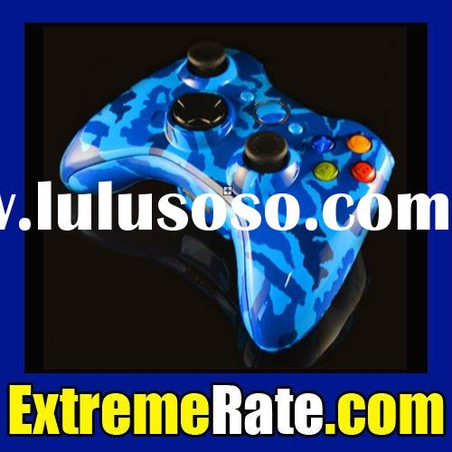Custom Hydro Dipped Blue Camouflage Replacement Shell For Xbox 360 Controller Housing Complete Kit